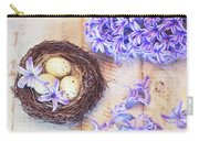 Hyacinth Flowers And Nest Carry-all Pouch