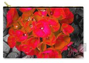 Hydrangea In Carmine Carry-all Pouch