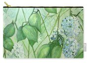 Hydrangea In Green Carry-all Pouch