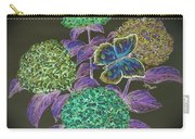 Hydrangea Negative Carry-all Pouch