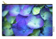 Hydrangea - Purple And Green Carry-all Pouch