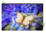Hydrangea With White Butterfly Carry-all Pouch