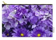Hydrangeas And Daisies So Purple Carry-all Pouch
