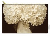 Hydrangeas In Sepia Carry-all Pouch