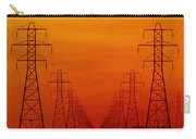 Hydro Power Lines And Towers Carry-all Pouch