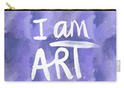 I Am Art Painted Blue And White- By Linda Woods Carry-all Pouch