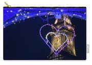 I Heart Boston Ma Christopher Columbus Park Trellis Lit Up For Valentine's Day Carry-all Pouch