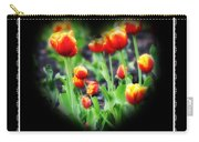 I Heart Tulips - Black Background Carry-all Pouch