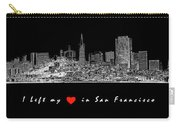 I Left My Heart - White On Black Background Carry-all Pouch