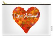 I Love Autumn Red Aspen Leaf Heart 1 Carry-all Pouch