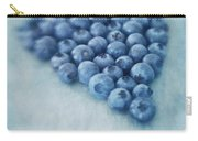 I Love Blueberries Carry-all Pouch by Priska Wettstein