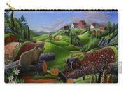 I Love Farm Life - Groundhog - Spring In Appalachia - Rural Farm Landscape Carry-all Pouch