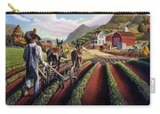 I Love Farm Life Shirt - Farmer Cultivating Peas - Rural Farm Landscape Carry-all Pouch