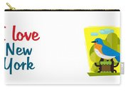 I Love New York Bird Carry-all Pouch