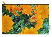 I Love Orange Flowers Carry-all Pouch