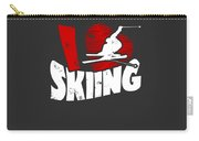 I Love Skiing Carry-all Pouch