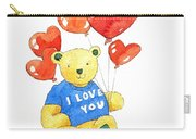 I Love You Bear Carry-all Pouch