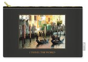 I Travel The World Venice Carry-all Pouch