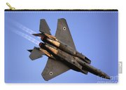 Iaf F15i Fighter Jet On Blue Sky Carry-all Pouch