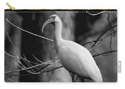 Ibis In Black And White  Carry-all Pouch