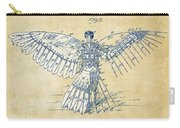 Icarus Human Flight Patent Artwork - Vintage Carry-all Pouch