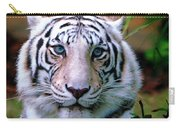 Ice Blue Eyes Of The Tiger Carry-all Pouch