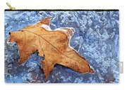 Ice-bound Leaf Carry-all Pouch