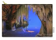 Ice Cave Setting Full Moon Serenity Carry-all Pouch