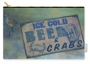 Ice Cold Beer And Crabs - Looks Like Summer At The Shore Carry-all Pouch