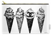Ice Cream Black ,chanel Carry-all Pouch