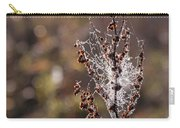 Ice Crystals On Dried Wild Flower Carry-all Pouch