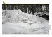 Ice Formations At Garwin Falls Carry-all Pouch