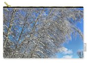 Ice Laden Birches Carry-all Pouch