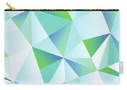 Ice Shards Abstract Geometric Angles Pattern Carry-all Pouch