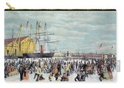 Ice Skaters, C1856 Carry-all Pouch
