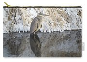 Iced Heron Carry-all Pouch