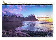 Iceland Beach Sunrise At Stokksnes Carry-all Pouch