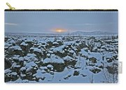Iceland Lava Field Sunrise Mountains Clouds Iceland 2 2112018 1024jpg Carry-all Pouch