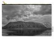 Iceland Mountain Reflections Bw Carry-all Pouch