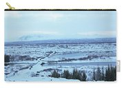 Iceland Mountains Lakes Roads Bridges Iceland 2 2112018 0945 Carry-all Pouch