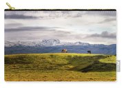 Icelandic Horses On The Countryside  Carry-all Pouch