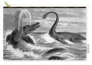 Ichthyosaurus And Plesiosaurus Carry-all Pouch