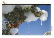 Icicles On Pine Tree Carry-all Pouch
