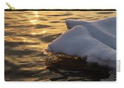 Icy Gold And Silk - Luminous Icicles Reflected On Glossy Water Carry-all Pouch