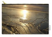 Icy Mississippi River Bank At Sunrise Carry-all Pouch