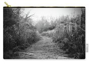 Icy Trail In Black And White Carry-all Pouch