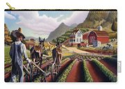 Id Rather Be Farming - Appalachian Farmer Cultivating Peas - Farm Landscape 2 Carry-all Pouch