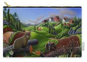 Id Rather Be Farming - Springtime Groundhog Farm Landscape 1 Carry-all Pouch