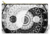Ideal Balance Black And White Yin And Yang By Sharon Cummings Carry-all Pouch