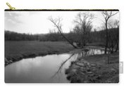 Idyllic Creek - Black And White Carry-all Pouch